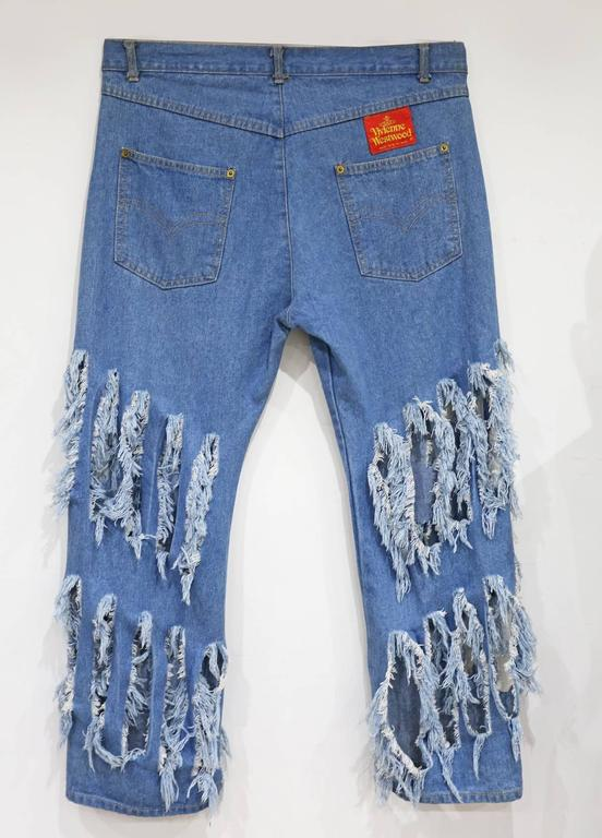 Vivienne Westwood 'CUT AND SLASH' hipster jeans, c. 1991 In Good Condition For Sale In London, GB