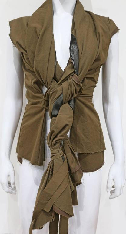 COMME des GARCONS deconstructed twisted waistcoat, c. 2002 2