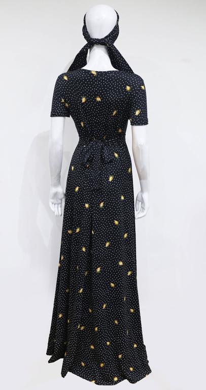 Diane Von Furstenberg Summer Polka Dot Stretch Jersey Maxi