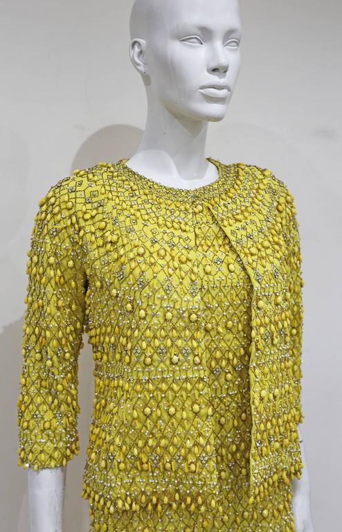 Haute Couture embellished evening ensemble by Balenciaga's Felisa Irigoyen 1960s 2