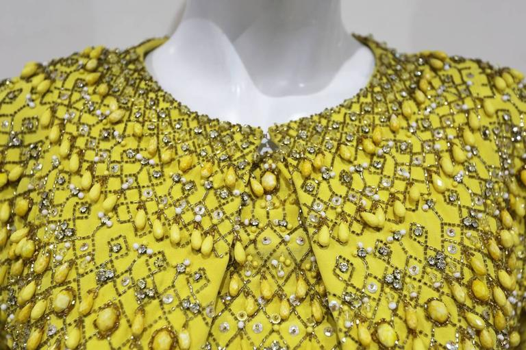 Haute Couture embellished evening ensemble by Balenciaga's Felisa Irigoyen 1960s 3