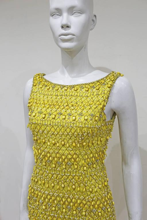 Haute Couture embellished evening ensemble by Balenciaga's Felisa Irigoyen 1960s 5