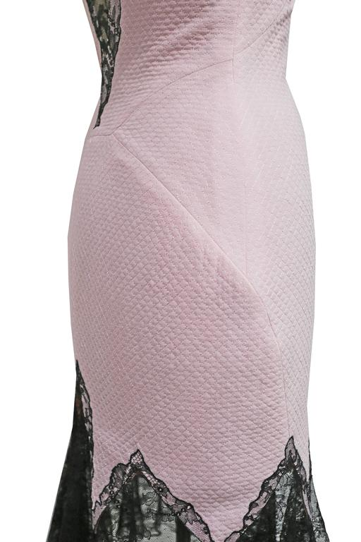 Gianni Versace baby pink cocktail dress with lace trim, c. 1990s 6