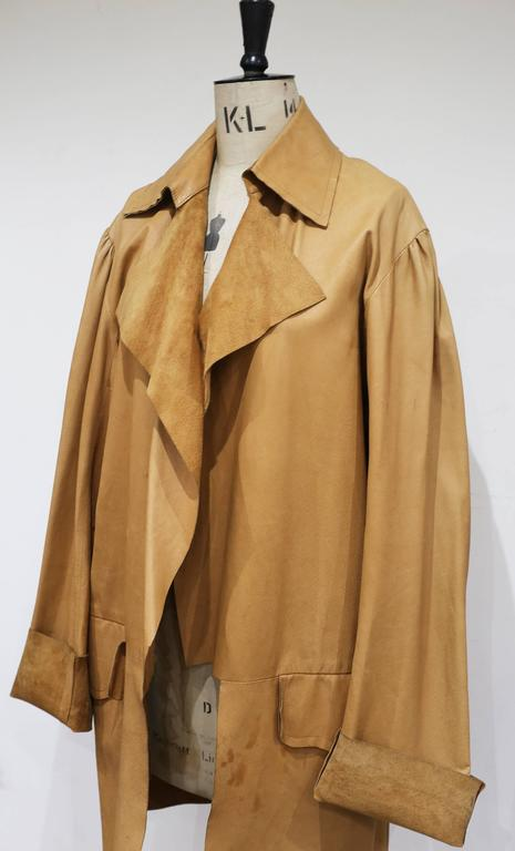 Extremely rare and highly collectible Pirate coat by Vivienne Westwood and Malcolm Mclaren from their iconic World's End boutique. The coat is oversized and has a raw finish. No closures, to be worn loosely.   M