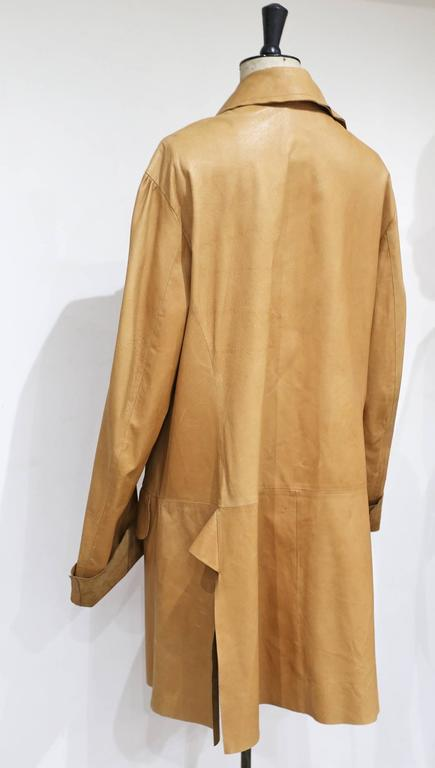 Worlds End by Vivienne Westwood and Malcolm Mclaren raw cut leather coat, c.1981 In Good Condition For Sale In London, GB
