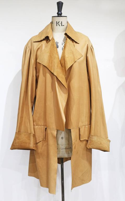 Worlds End by Vivienne Westwood and Malcolm Mclaren raw cut leather coat, c.1981 For Sale 1