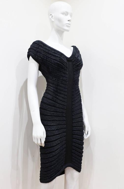 Black Alaia black chenille-knitted evening dress, c. 1994 For Sale