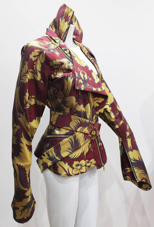 Vivienne Westwood silk brocade bondage jacket, c. 1994-96 In Excellent Condition For Sale In London, GB