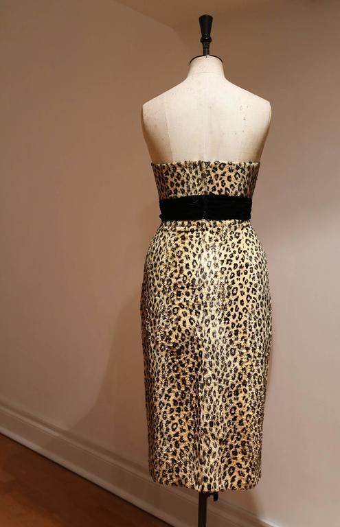 Caroline Walker leopard print strapless pin-up dress 3
