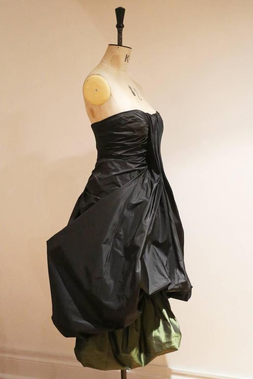 Black Alexander McQueen silk taffeta evening dress, witches collection A/W 2007 For Sale
