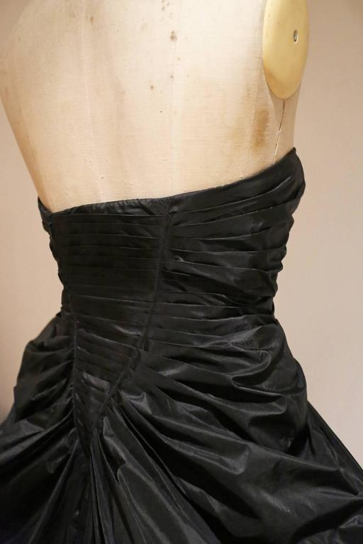 Women's Alexander McQueen silk taffeta evening dress, witches collection A/W 2007 For Sale