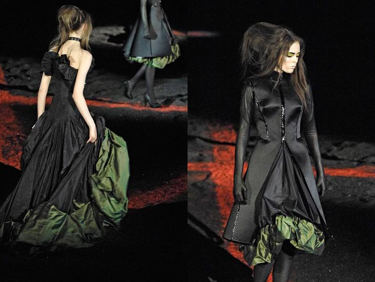 Alexander McQueen silk taffeta evening dress, witches collection A/W 2007 For Sale 2