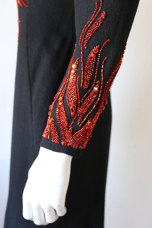 Murray Arbeid embellished fire evening dress, c. 1970s 5