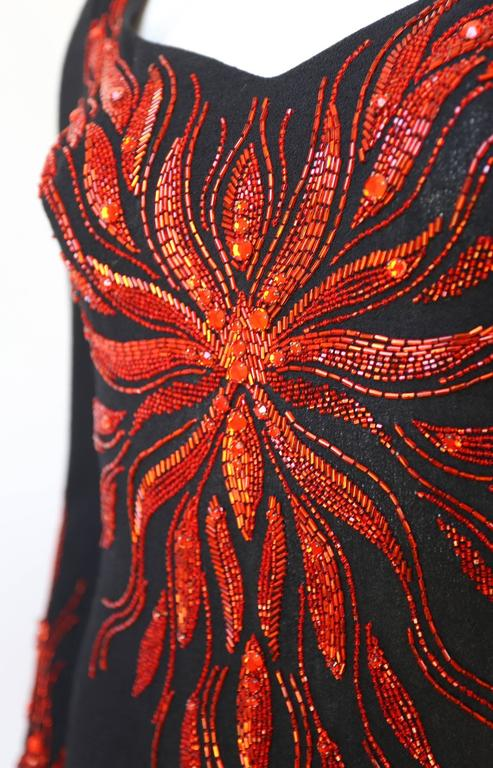 Murray Arbeid embellished fire evening dress, c. 1970s 6