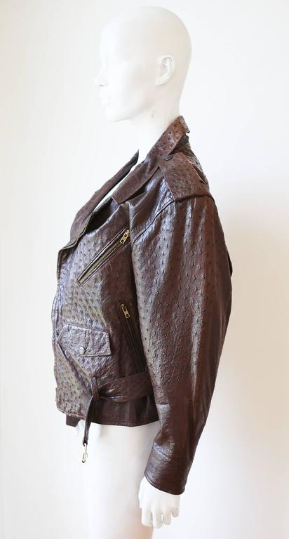 Jean-Claude Jitrois Ostrich Skin Motorcycle Jacket, c. 1980s In Good Condition For Sale In London, GB