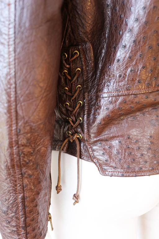 Jean-Claude Jitrois Ostrich Skin Motorcycle Jacket, c. 1980s For Sale 1