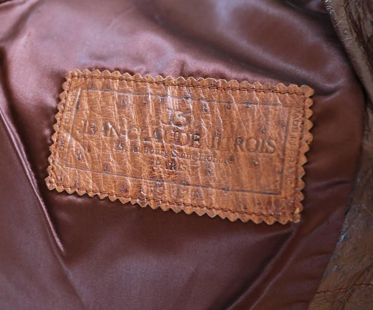 Jean-Claude Jitrois Ostrich Skin Motorcycle Jacket, c. 1980s For Sale 2