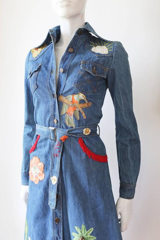 Blue Peter Golding 'Ace Jungle Jean' Denim Dress, c. 1974