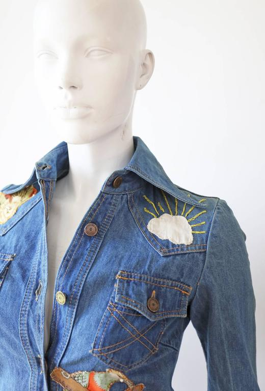 Peter Golding 'Ace Jungle Jean' Denim Dress, c. 1974 In Good Condition In London, GB
