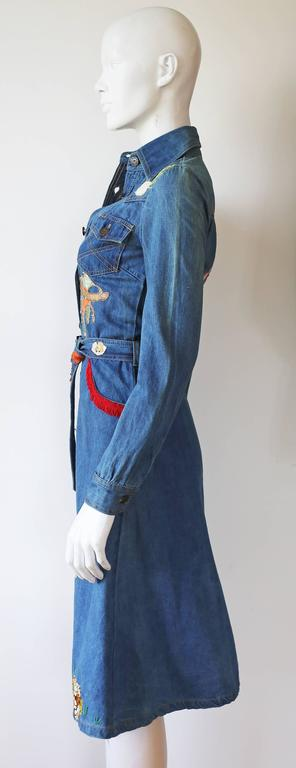 Women's Peter Golding 'Ace Jungle Jean' Denim Dress, c. 1974
