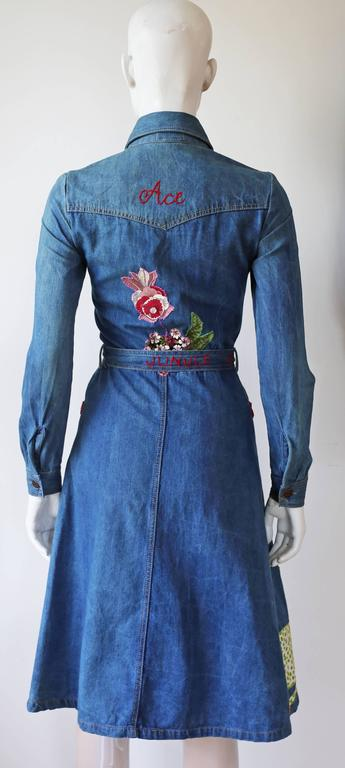 Peter Golding 'Ace Jungle Jean' Denim Dress, c. 1974 6