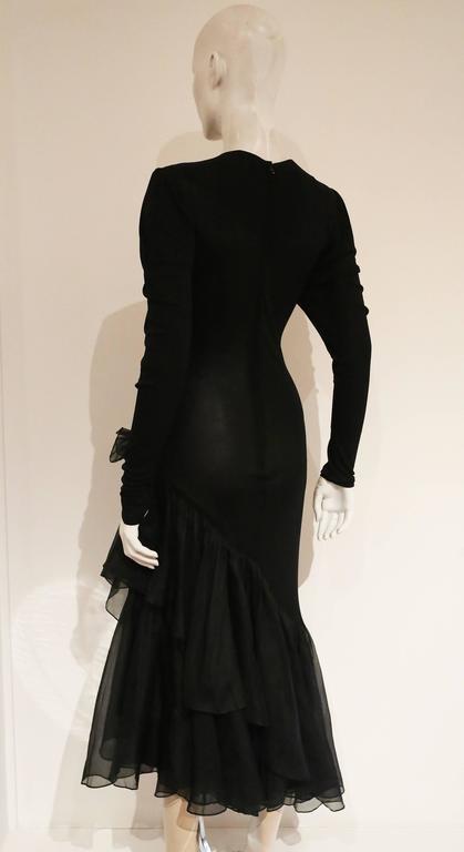 Hilary Floyd Silk Jersey Evening Dress C 1970s For Sale