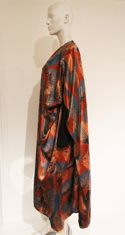 Jean Paul Gaultier draped satin dress coat, c. 1980s In Good Condition For Sale In London, GB