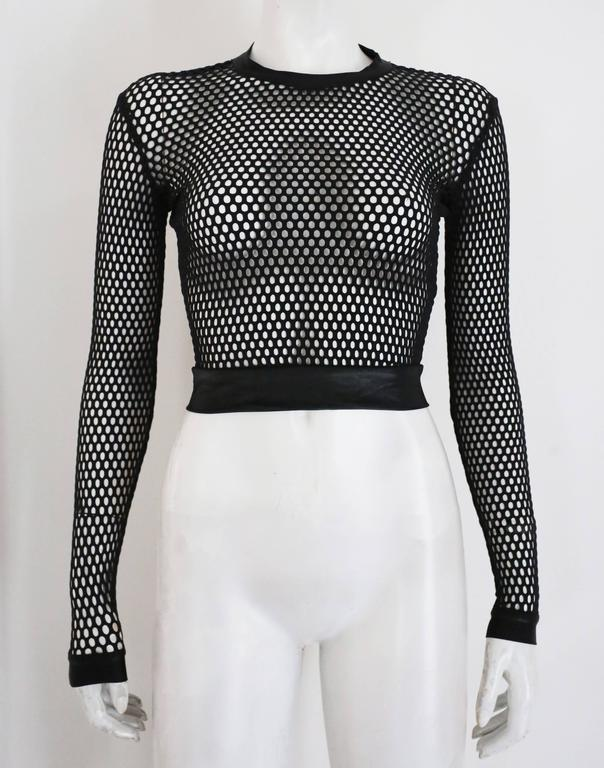 Pam Hogg mesh cropped sweater, c. 1990s 4