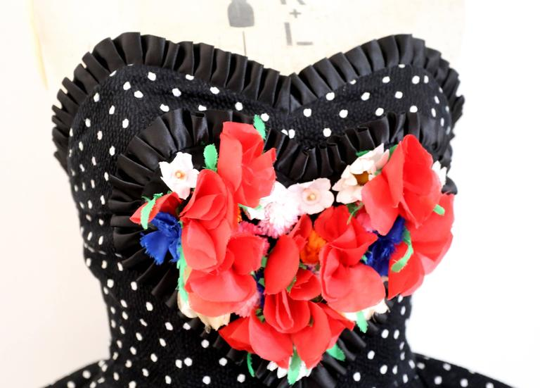Christian Lacroix polkadot peplum bustier, SS 1988 In Excellent Condition For Sale In London, GB