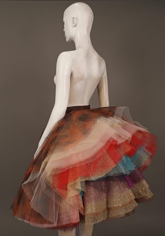 #ARTATTACK   Super rare Vivienne Westwood 'EXPLOSION' layered tulle skirt, circa 1993. The skirt has 34 layers of tulle in various prints and colours, only 12 copies of this design were made and sold exclusively to Westwood's VIP clients.