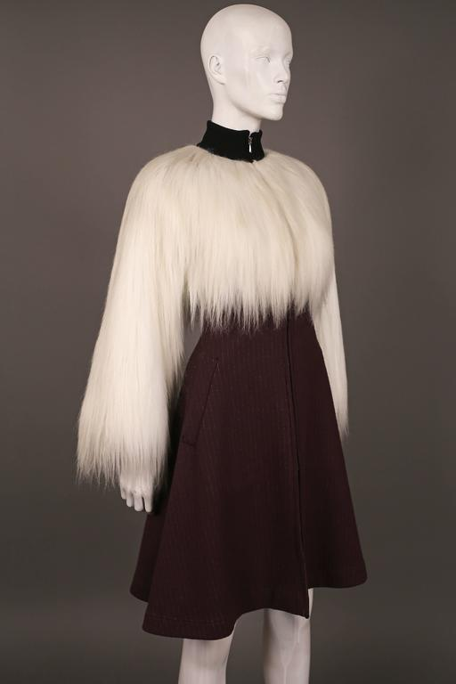Jean Paul Gaultier faux fur dress coat, c. 1993 7