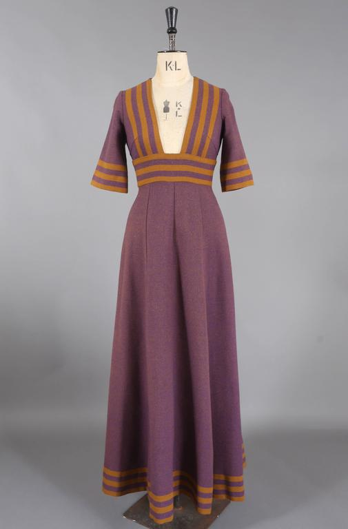 Jean Varon tweed maxi dress, c. 1960s 6