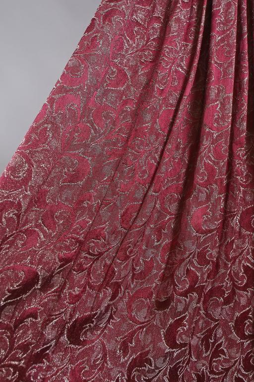 Bias cut off-the-shoulder lamé silk evening dress, C. 1930s 7