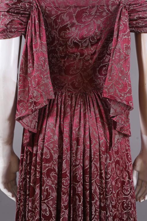 Bias cut off-the-shoulder lamé silk evening dress, C. 1930s 6