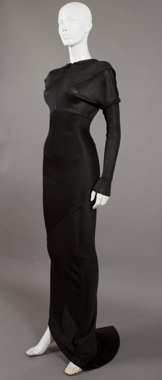Alaia bias cut evening dress with low back, c. 1986 8