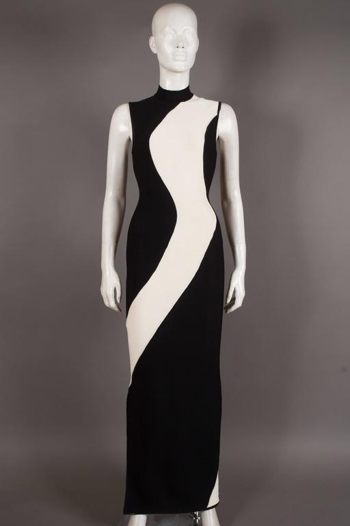 Herve Leger bias cut bandage evening dress, Circa 1996 8