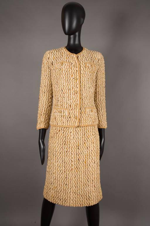 Chanel haute couture tweed skirt suit circa 1960s at 1stdibs for Haute couture suits