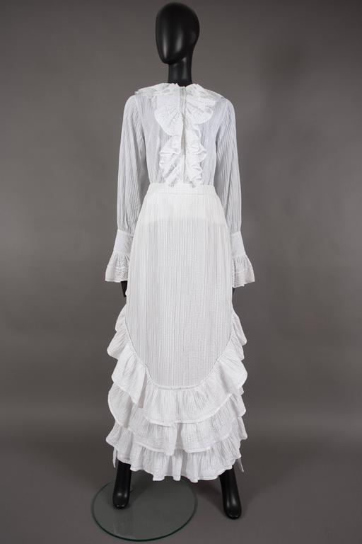 Mexicana white pintucked cotton and lace ensemble, circa 1960 6