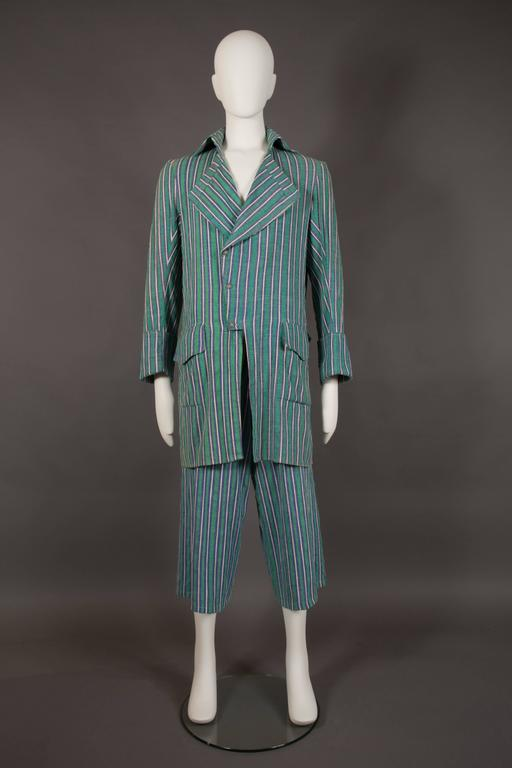 A rare pantsuit by Worlds End, designed by Vivienne Westwood and Malcolm Mclaren, circa 1981.