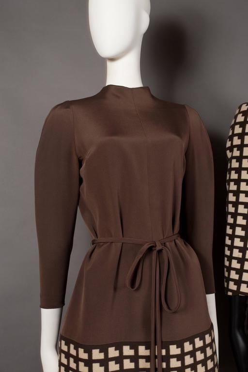 Black Paul Daunay Haute Couture Fall Daytime Ensemble, circa 1952-57 For Sale