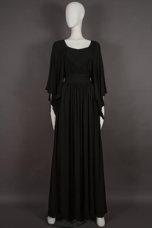 Quorum by Ossie Clark pleated jersey evening gown, circa 1965-68 2