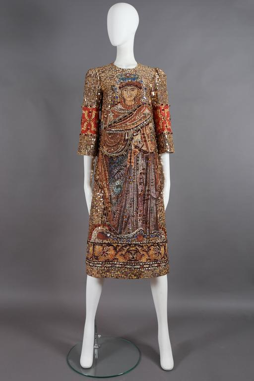 Dolce & Gabbana mosaic embellished shift dress, circa 2013 2