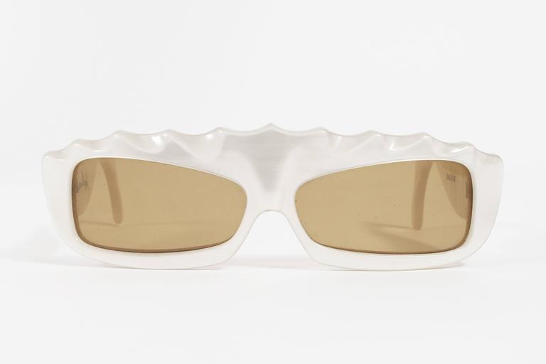 Rare Thierry Mugler Galaxie Pearl Sunglasses, circa 1977-79