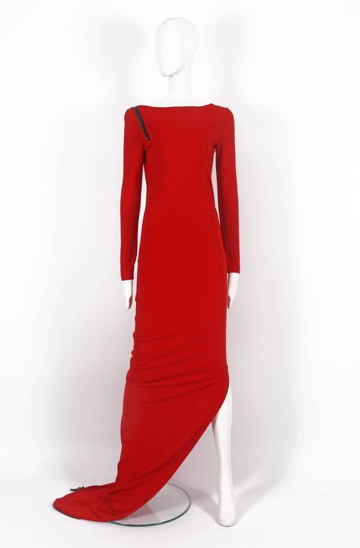 Jean Paul Gaultier red convertible zip dress, circa 2011 2