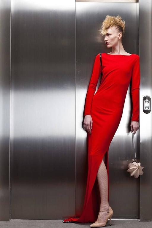 Jean Paul Gaultier red convertible zip dress, circa 2011 3