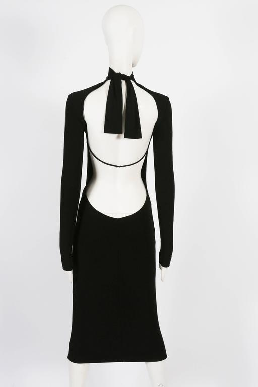 Dolce & Gabbana black bodycon low back dress, circa 1990s