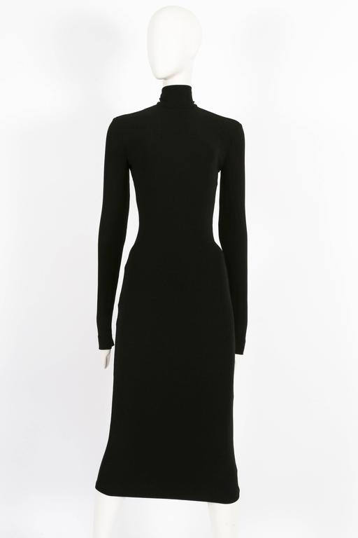 Women's Dolce & Gabbana black bodycon low-back dress, circa 1990s For Sale