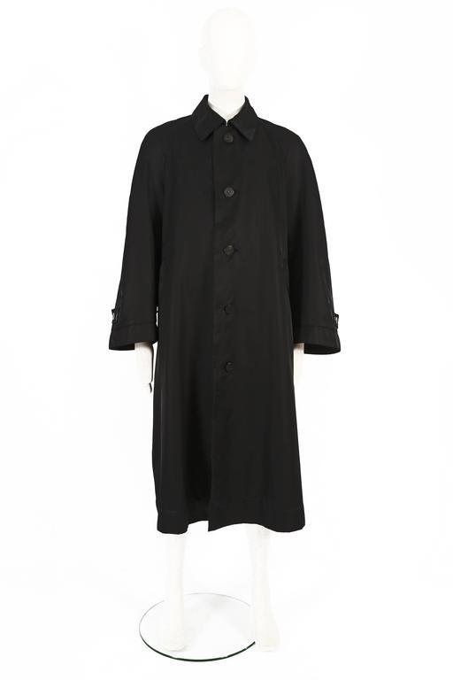 Black Issey Miyake Mens oversized windcoat, circa 1990s For Sale