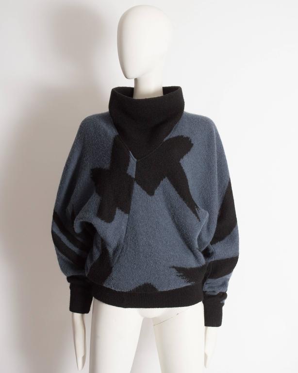 Issey Miyake oversized wool sweater, circa 1980 2