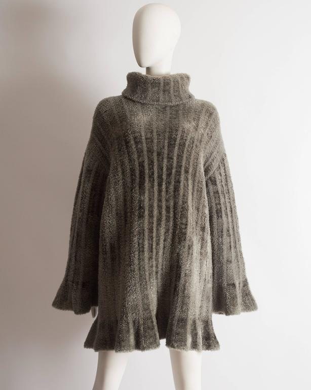 Alaia oversized chenille sweater dress, AW 1991 2